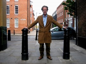 Adam Dant near to his Gallerette in Shoreditch